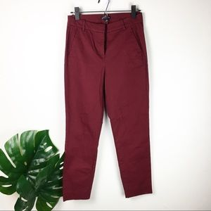 J.Crew   Burgundy Straight chino pants size 2